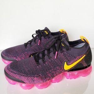 Nike Vapormax Flyknit Gridiron/LaserOrange/Pink